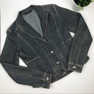 ELIE TAHARI Designer Denim Jean Button Jacket